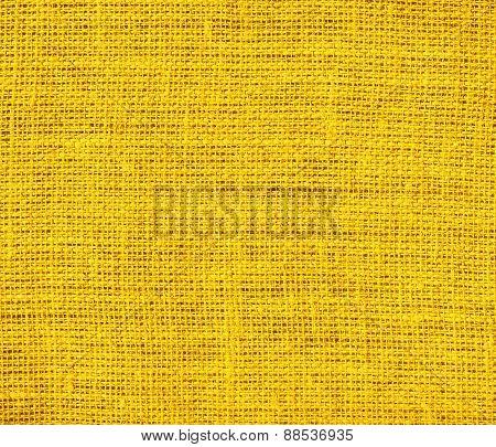Burlap amber texture background