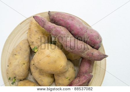 Potato Sweet Potato Food Raw Preparation Concept