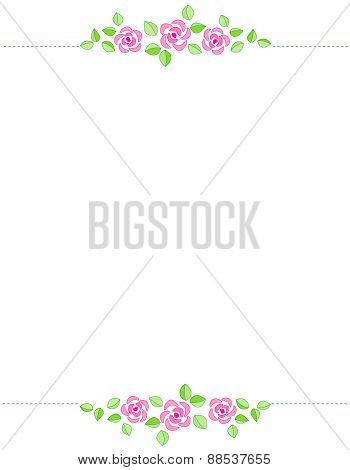 Pink Roses Invitation Background