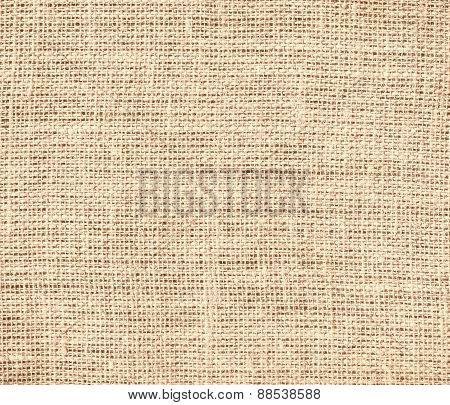 Burlap apricot texture background
