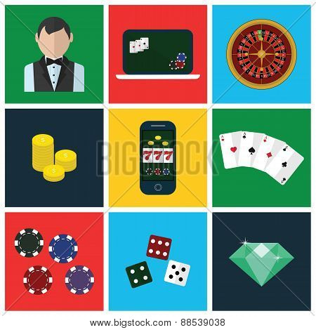 Colorful modern vector flat icons set. Quality design illustrations, elements and concepts for web a