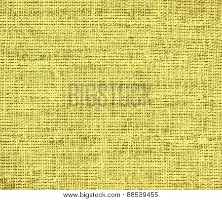 Burlap arylide yellow texture background