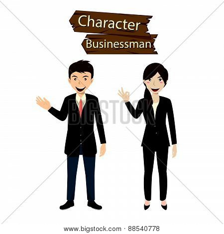 Business Character Set Vector Illustration