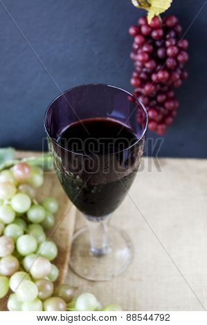 Glass Of Red Grape Juice