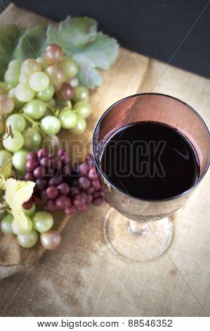 Top Of Grape Juice Glass