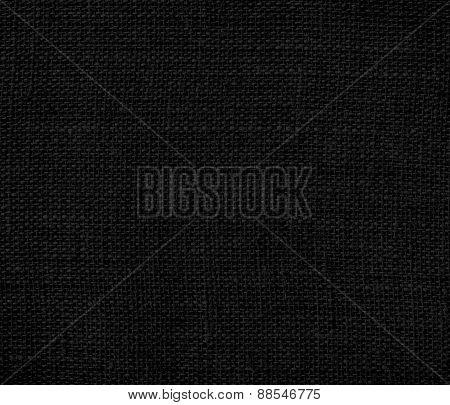 Burlap black texture background