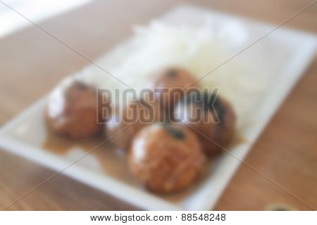 Blurry Defocused Japanese Squid Batter For Background