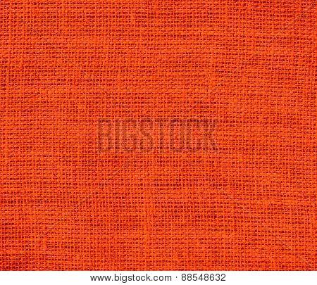 Burlap orange-red texture background