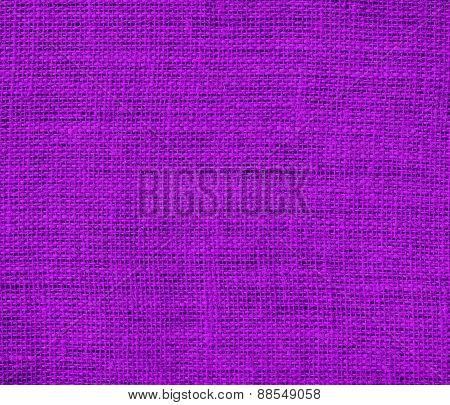 Burlap purple texture background