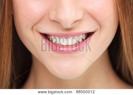 Woman Smile. Teeth Whitening Concept.