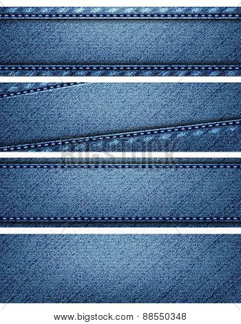 Blue Denim Texture Headers