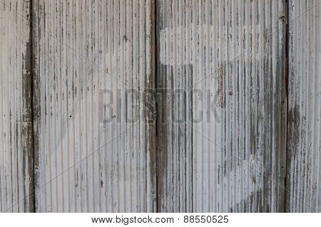 Old Galvanized Iron For Background
