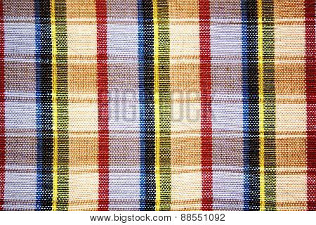 plaid on fabric