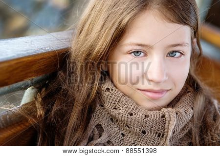 Portrait Of A Girl 13 Years