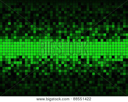 Grid Of Green And Black Squares