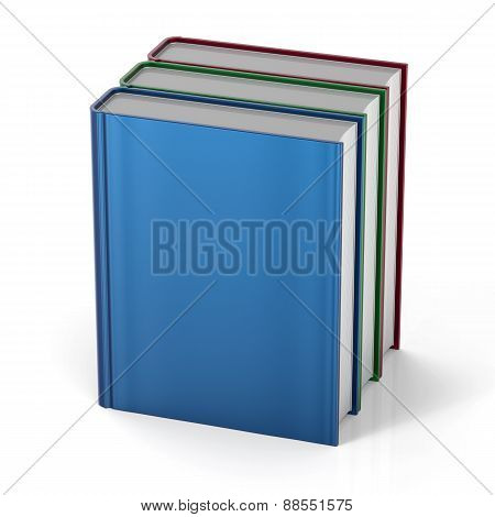 Three Books 3 Blank Cover Standing Vertical