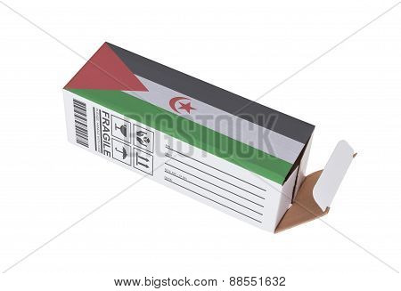 Concept Of Export - Product Of Western Sahara