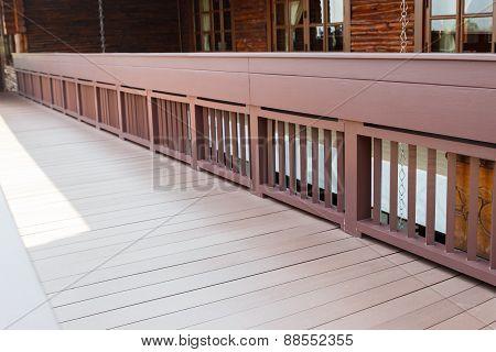 Wooden Walkway On The Terrace