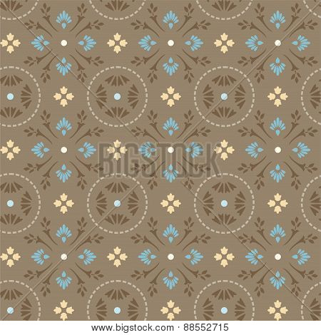 Pattern Of Cornflowers In Cir...