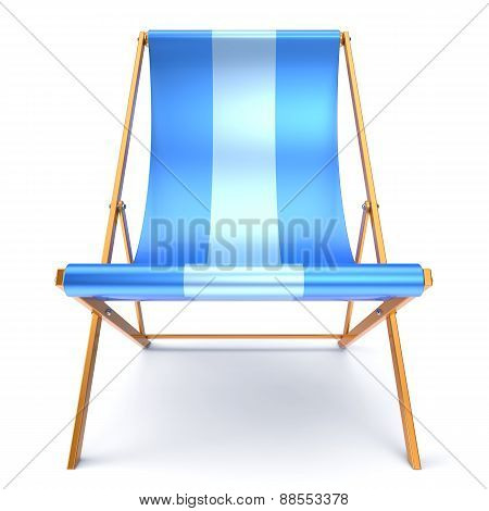 Beach Chair Chaise Longue Blue Relaxation Outdoor Concept