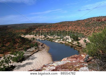 View across the Gorge at Kalbarri NP in Western Australia