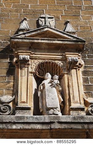 Convent sculpture, Aguilar de la Frontera.