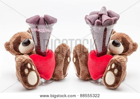 Teddy Bear And Cuberdons