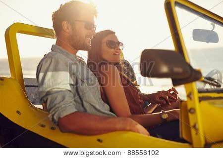 Beautiful Young Couple On A Road Trip