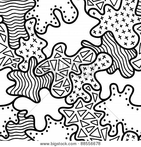 abstract drawn pattern outlines