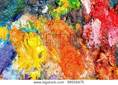The Texture Of The Artist's Palette