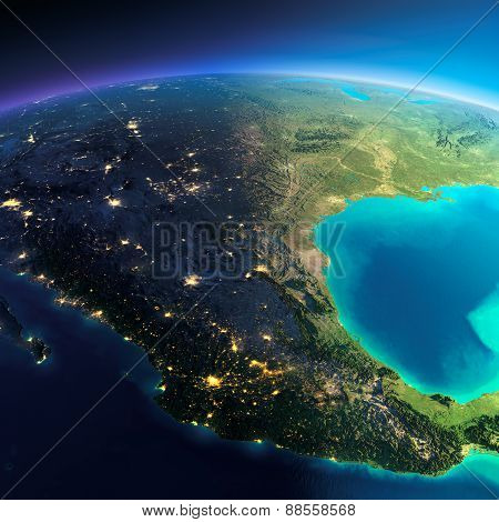 Detailed Earth. Mexico