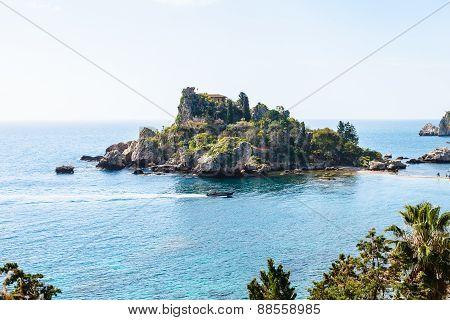 Island Isola Bella Near Taormina Town, Sicily