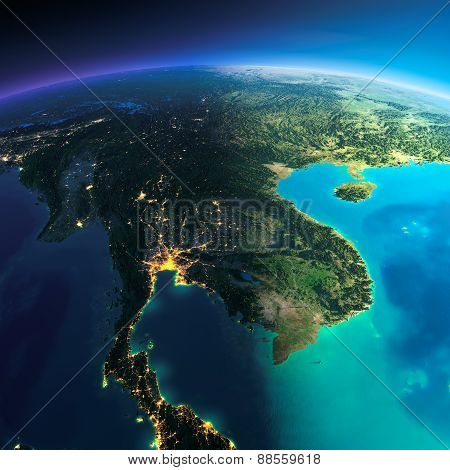Detailed Earth. Indochina Peninsula