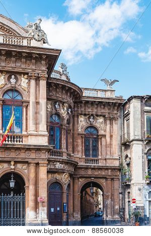 Teatro Massimo Bellini And Arch To Street, Catania