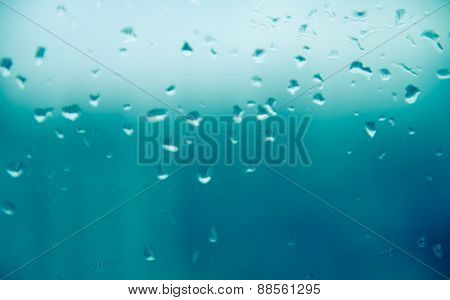 Mirror With Rain Drop Background