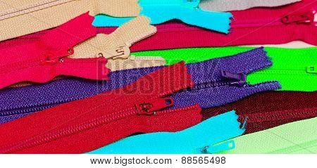Multi-colored Zipper
