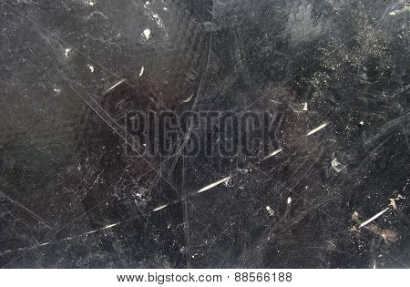 Black Grunge Background With White Wear