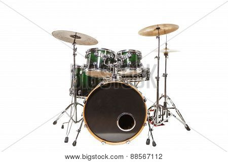 Drums On A White Background