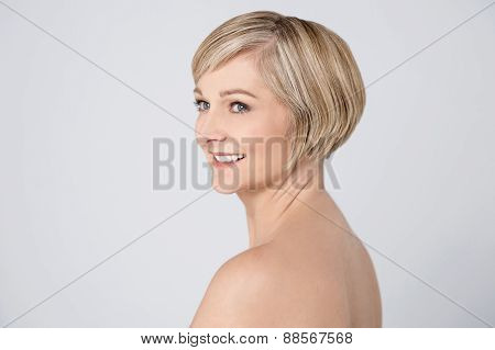 Smiling Woman With Clean Skin.