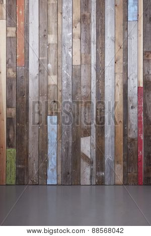 Background of reclaimed timber wall for a modern rustic look