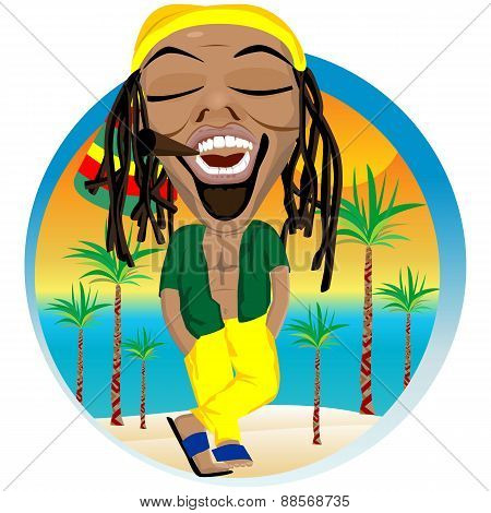 Cheerful rastafarian