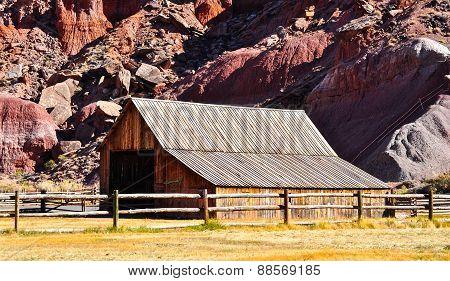 Barn At Capitol Reef National Park, Utah