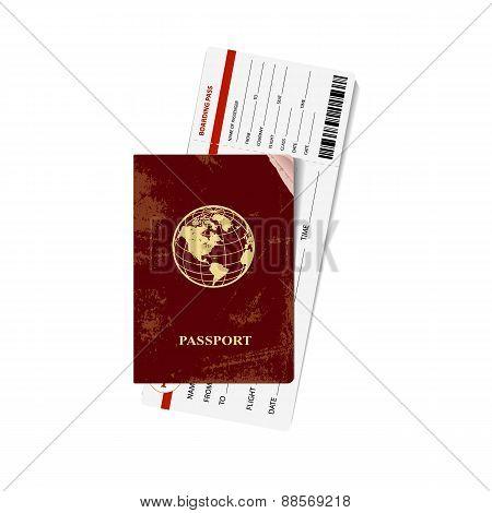 Passport and ticket