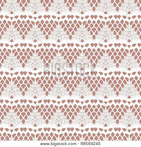 Lace white seamless mesh pattern.
