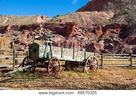 Old Cart In Capitol Reef National Park, Utah