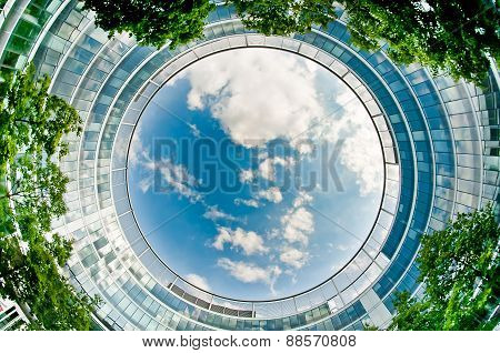 Round office building