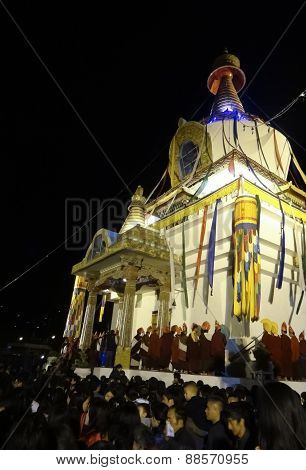 Bhutanese People Joined Religious Ceremonies