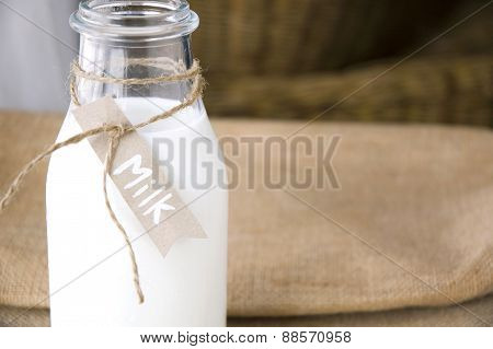 Milk Bottle With Tag