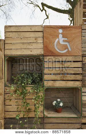 Disabled Person Toilet Directions Sign