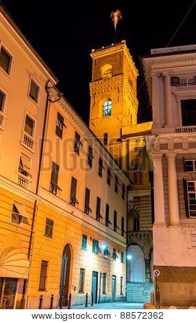 Tower Of Palazzo Ducale In Genoa, Italy
